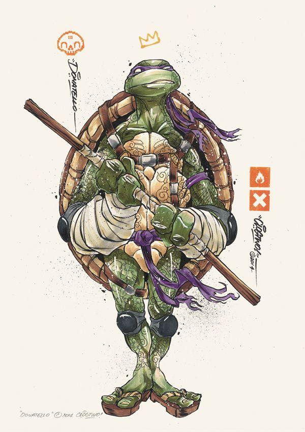 Illustrations des Tortues Ninja par Clogtwo