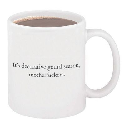 Decorative gourd season mug. Ironically posting to Pinterest only to remind myself it exists.