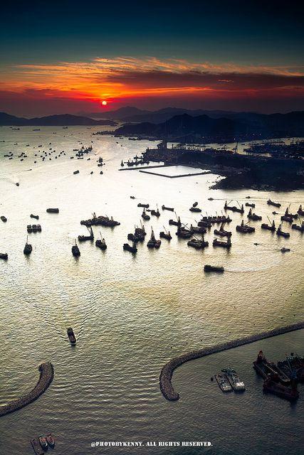 Hong Kong, West Kowloon Sunset