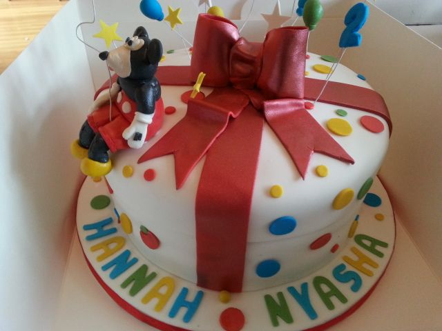 Mickey Mouse Present cake By Sheila's Cake Creations Essex UK