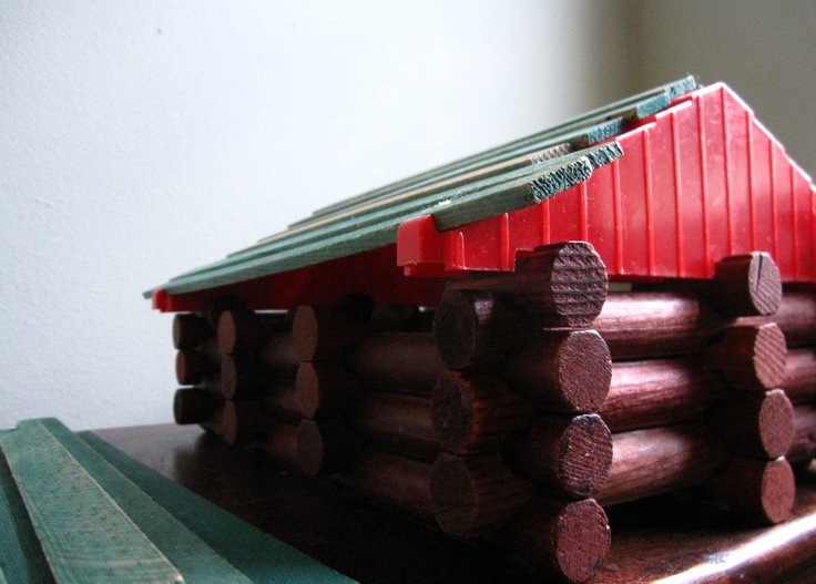the original log cabin :): Logs Tinker, Log Cabins, Underr Things, Vintage Lincoln, Logs Cabins, Lincoln Logs, Originals Logs