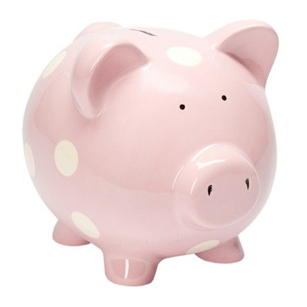 Classic Pastel Pink Piggy Bank #rosenberryrooms