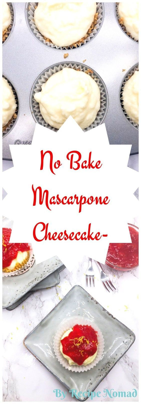 No Bake Mascarpone Cheesecake is simple to make and will definitely satisfy your sweet tooth!  http://www.recipenomad.com/no-bake-mascarpone-cheesecake/   No Bake Mascarpone Cheesecake | Recipe Nomad