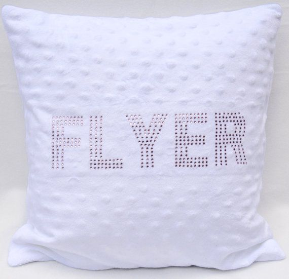 "Cheerleading pillow, Rhinestone Cheer Pillow, 14"" by 14"" pillow, sparkly pillow, cheer cushion, cheerleader bedroom, girls bedroom decor"