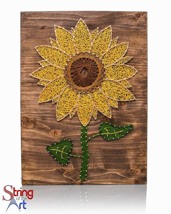 String Art DIY Kit Sunflower String Art DIY von StringoftheArt