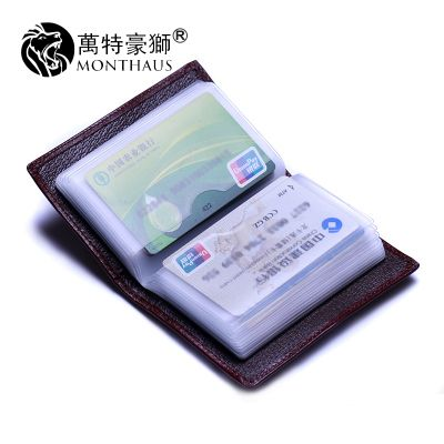Tehao Card Holder Men High Capacity Genuine Leather Card Holder Leather Women Credit Card Bank Card Card pack & set 10472246175