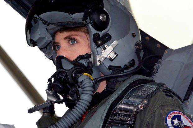 Capt Michelle Mace Curran 355th Fighter Squadron F 16 Pilot Looks Up During Launch Preparations On The Flight Female Pilot Fighter Pilot Jet Fighter Pilot