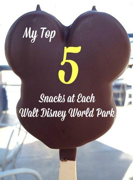 Top 5 Snacks in Each Walt Disney World Park https://anopensuitcase.com/top-snacks-wdw/ #Disney #WDW #Travel #FamilyTravel #DisneyFood
