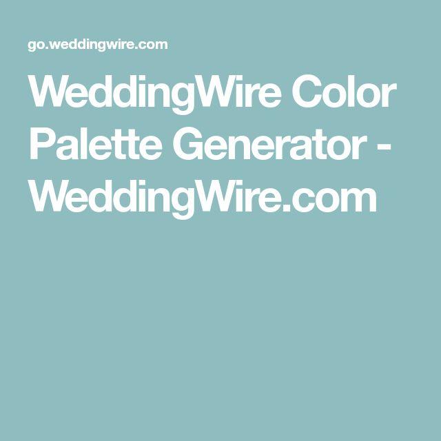 WeddingWire Color Palette Generator - WeddingWire.com