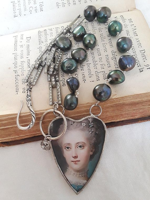 Assemblage Jewelry Necklace Vintage Repurposed Boho French Atelier