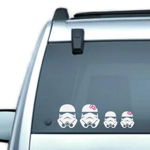 Used Toyota Prius Near Me: Star Wars Stormtrooper Family Vinyl Car Window By