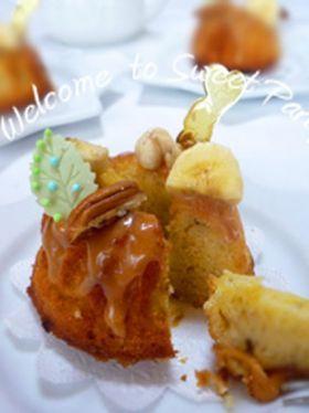 「バニラバナナケーキ」クルリン   お菓子・パンのレシピや作り方【corecle*コレクル】