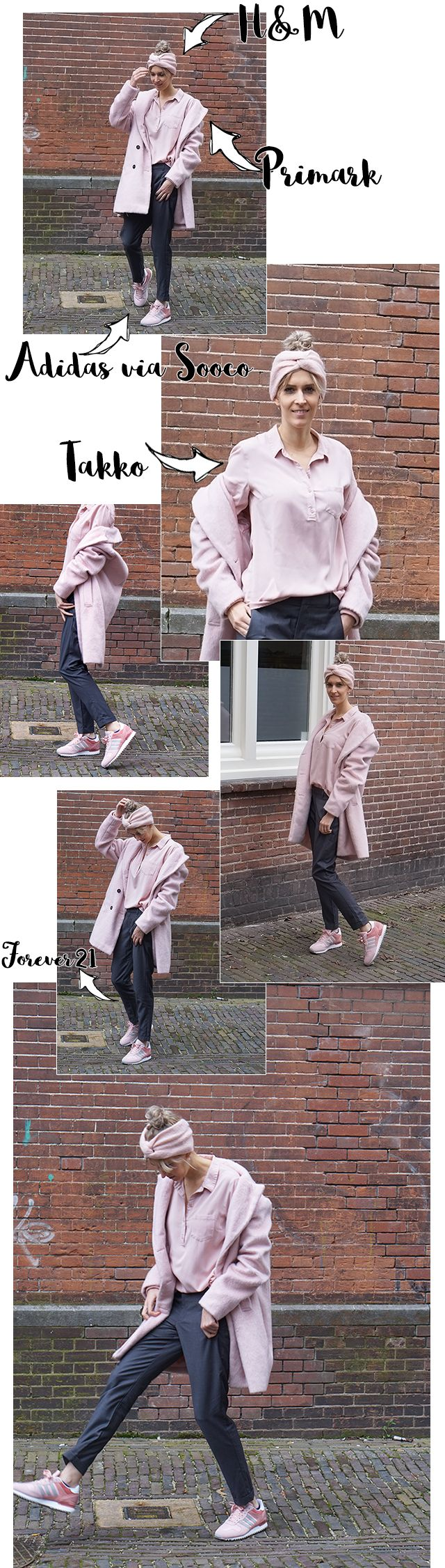 Budgetoutfit | dusty pink & Adidas ⋆ http://www.budgetproof.nl/budget-outfit-roze-adidas/