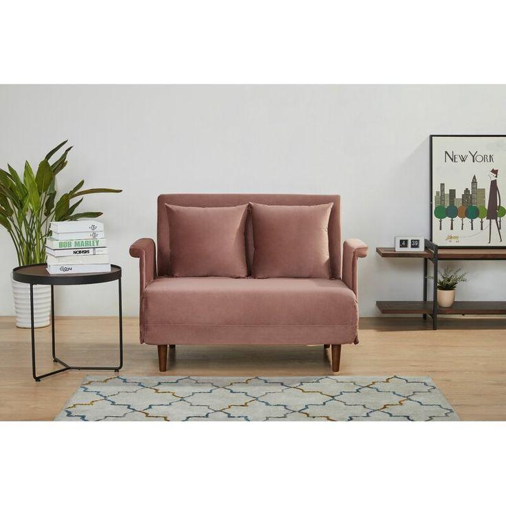 2f52e94b27f116ca9890dfc30df9a55e - Better Homes & Gardens Porter Fabric Tufted Futon Rust Orange