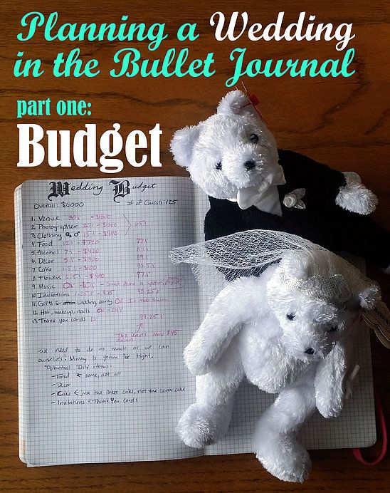 Little Coffee Fox | Planning a Wedding in the Bullet Journal - Part One: Budget