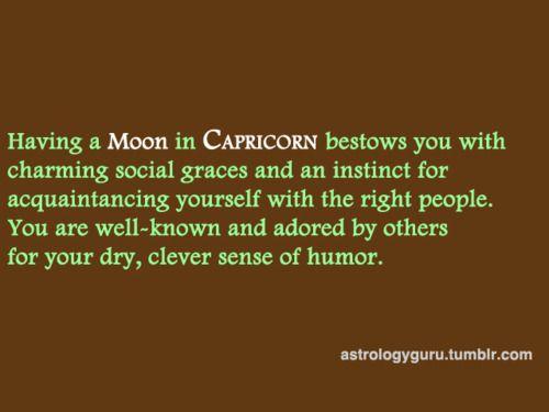 Moon in Capricorn