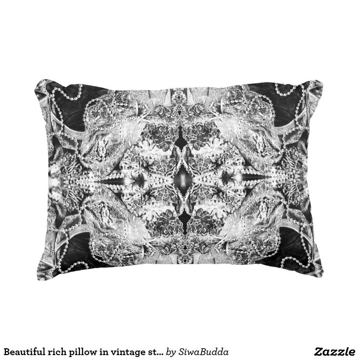 Beautiful rich pillow in vintage style