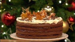 Christmas tiramisu cake