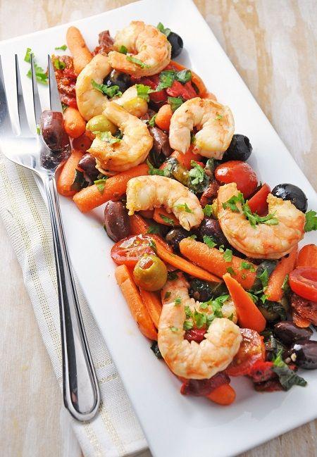 Italian Shrimp Antipasto Salad Recipe {Clean Eating, Gluten-Free, Dairy-Free}