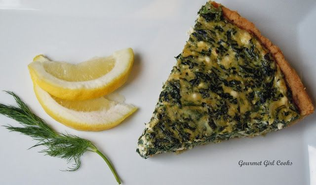 Gourmet Girl Cooks: Monday's Greek Style Spinach-Feta Pie