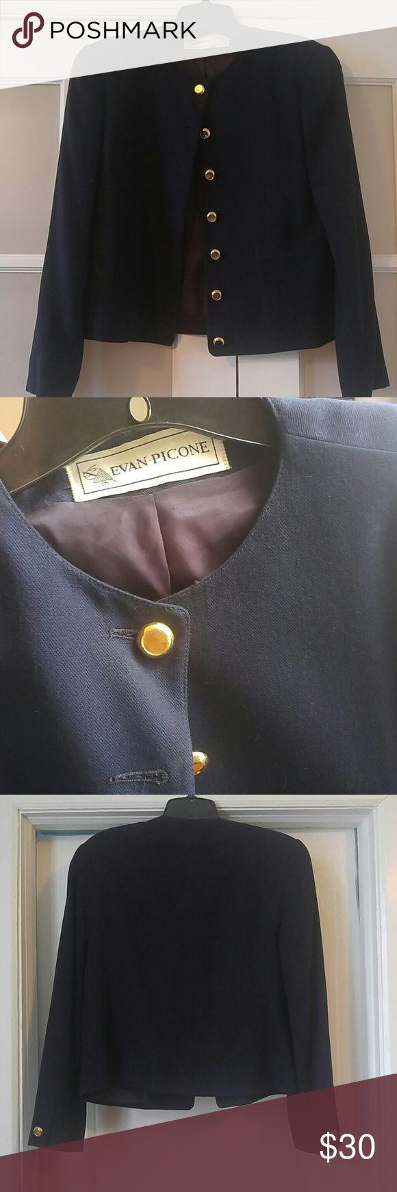 Vintage Evan Picone Navy Blazer Evan Picone Navy Blazer with gold buttons Evan Picone Jackets & Coats Blazers