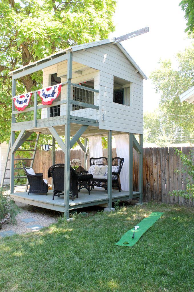 awesome playhouse Seasonal Simplicity Home Tour