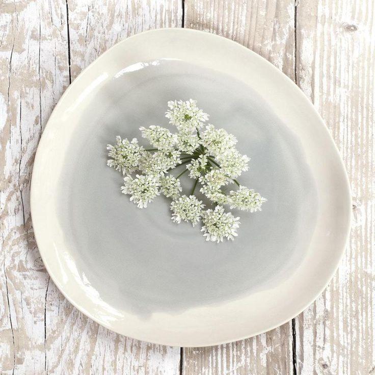 Joy Watercolour Light Grey & White Dinner Plate Dassie Artisan   Home, Furniture & DIY, Cookware, Dining & Bar, Tableware, Serving & Linen   eBay!
