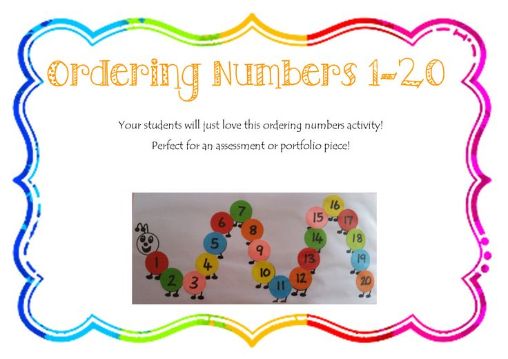 Your students will just love this ordering numbers activity! Perfect for an assessment or portfolio piece! Students simply glue the numbers in order onto the caterpillar. …