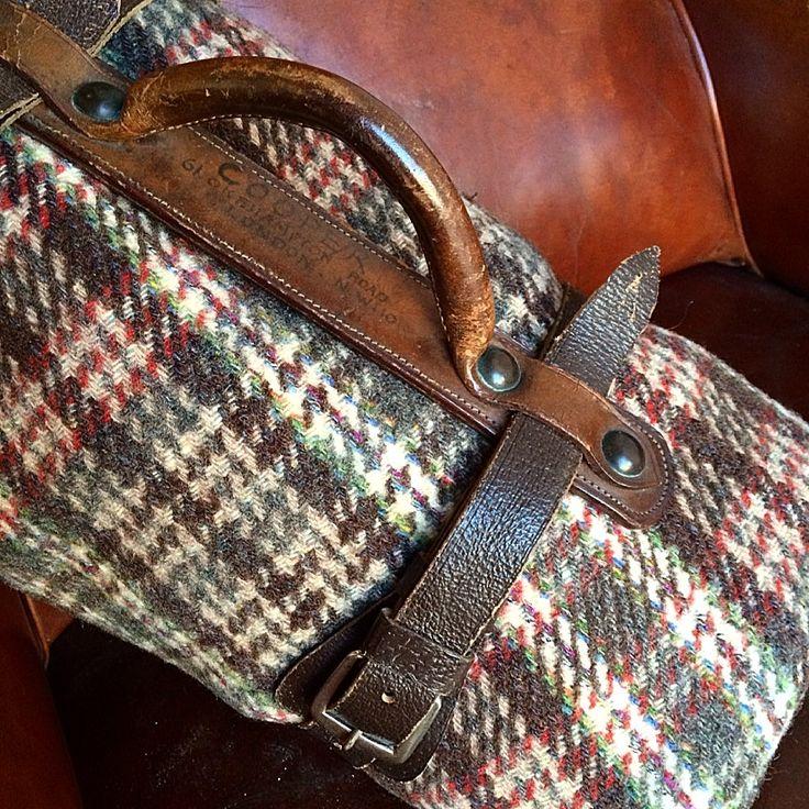 Vintage Leather Blanket Strap