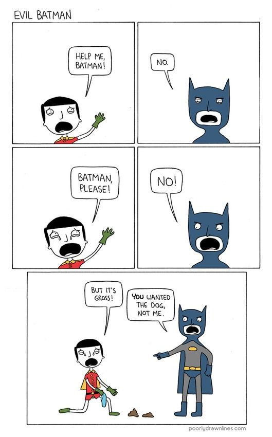#batman from Poorly-drawn-lines