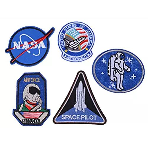 Welecom Nasa Iron on Patches,Patch Embroidered for Sewing On Patches for Jeans, clothing