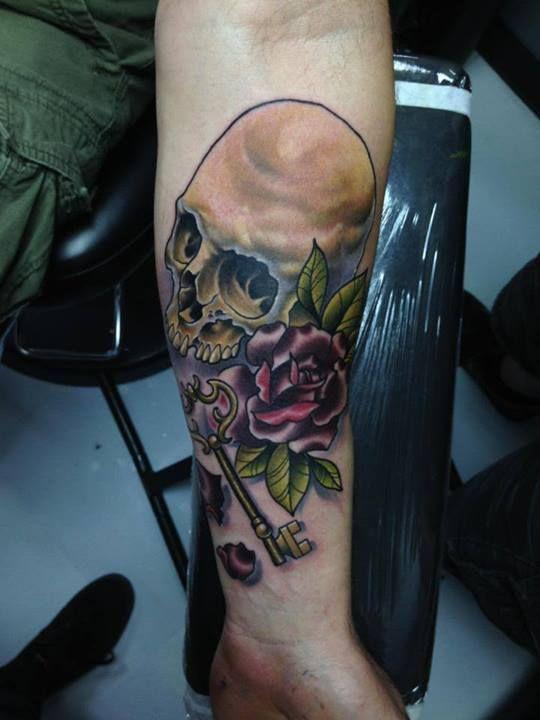 Skull tattoos by Tom Taylor