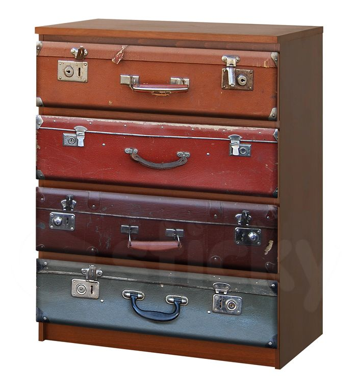 Furniture Sticker SUITCASES by Sticky!!!