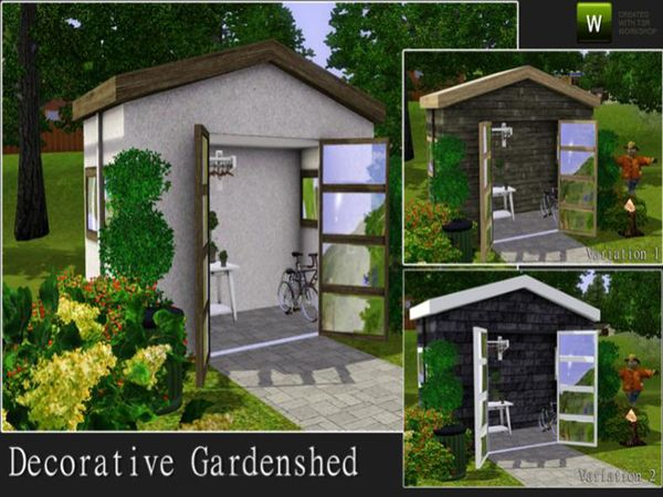 Decorative Garden Shed By Angela Sims 3 Downloads Cc