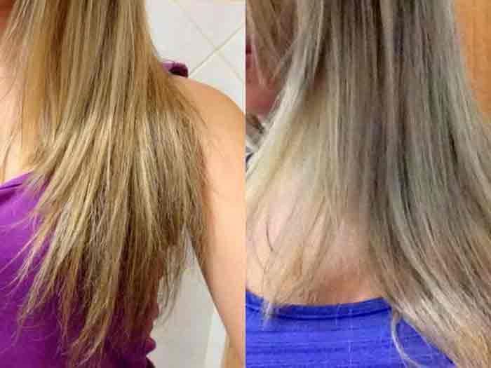 Tirar o amarelo dos cabelo loiros ou brancos