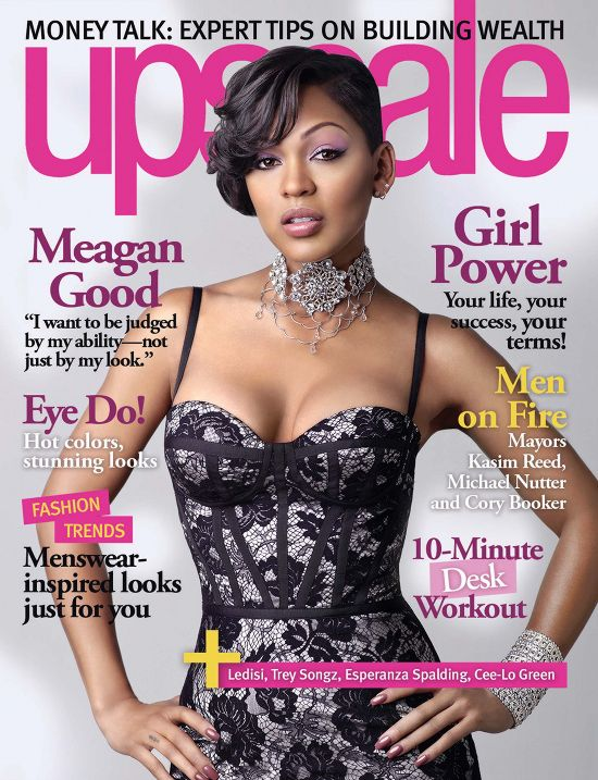 Meagan Good COVERS UPSCALE Magazine's August 2012 Talks About How Her Husband's Love For God Is So Sexy & More!