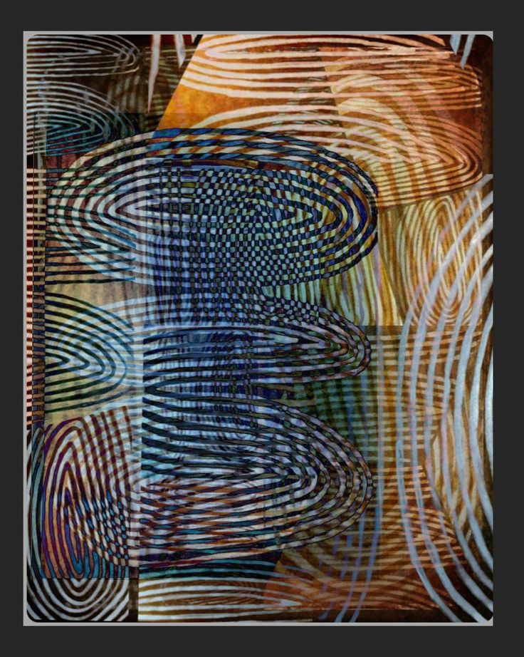 Digital artwork Reworking whit ink drawing on Kraft paper.