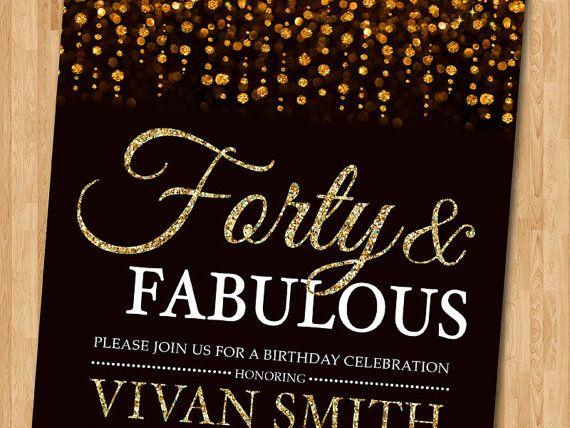 40.o invitación de cumpleaños para las mujeres. por arthomer