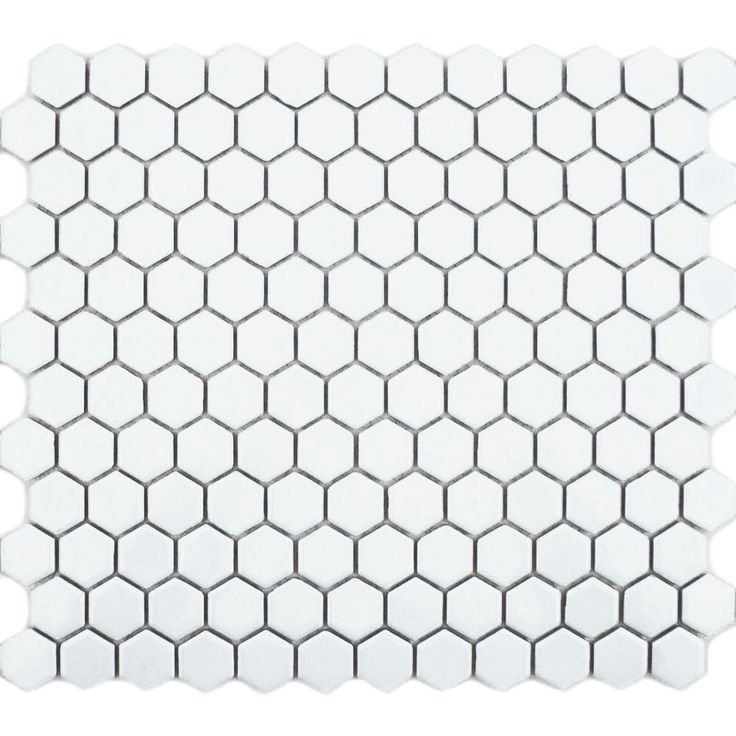 White Hexagon Matt Tiles | Walls and Floors