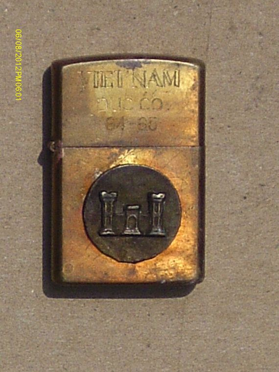 "Vietnam War Brass Zippo Lighter ""VIETNAM Duc Co 64-65"": Unknown Military Symbol"