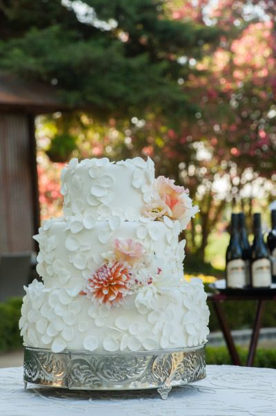 Whimsical cake: http://www.stylemepretty.com/california-weddings/yolo-county-california/2015/04/21/summer-garden-wedding-at-inn-at-park-winters/ | Photography: Amy Jensen - http://amyjensenphotography.com/