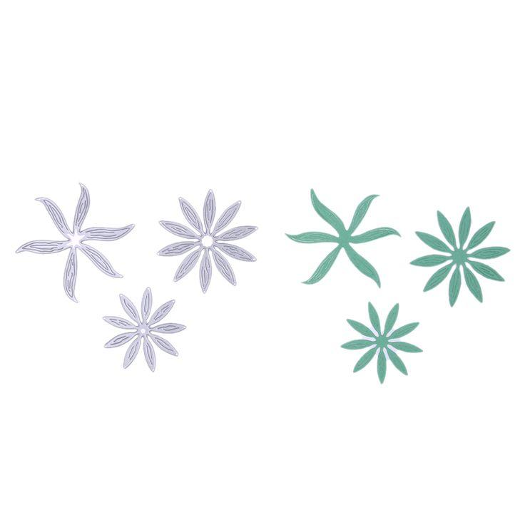 3 Шт./компл. Металлические Листья Цветы Резки Умирает Трафареты Craft Карты Ремеслам Скрапбукинг Выбивая Декор купить на AliExpress