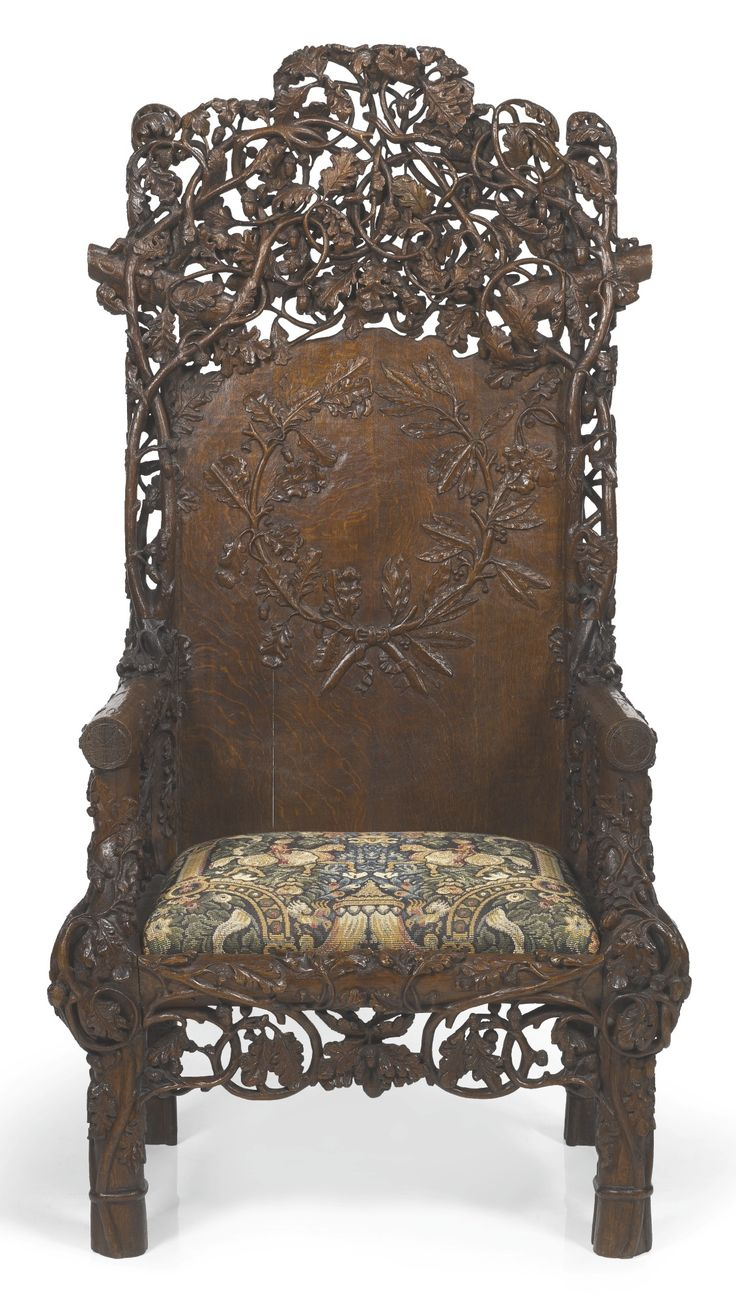G. Collinson of Doncaster ARMCHAIR, DATED 1851 oak ...