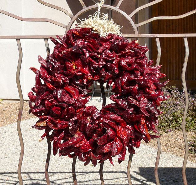 Photograph Of Red Chile Wreath