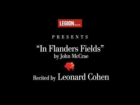www.macleans.ca culture arts leonard-cohen-recites-in-flanders-fields