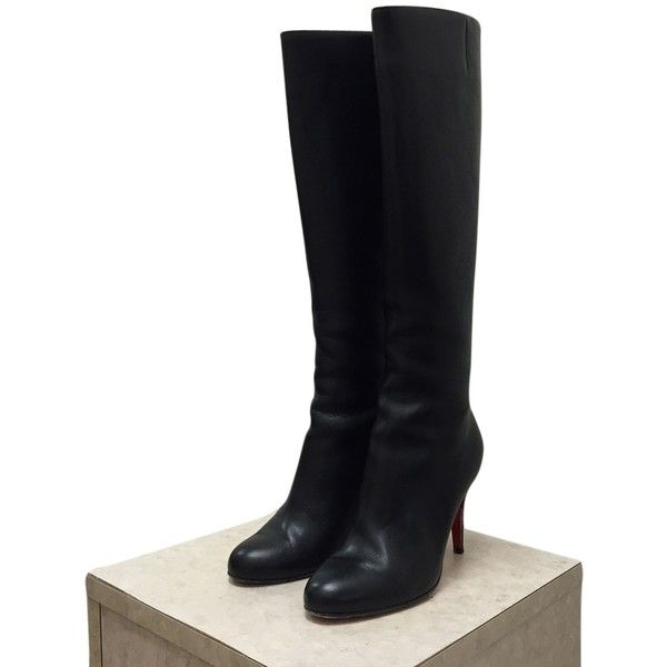 christian louboutins shoes for men - Pre-owned Christian Louboutin Babel 85 Rodano Calf Boots (835 AUD ...