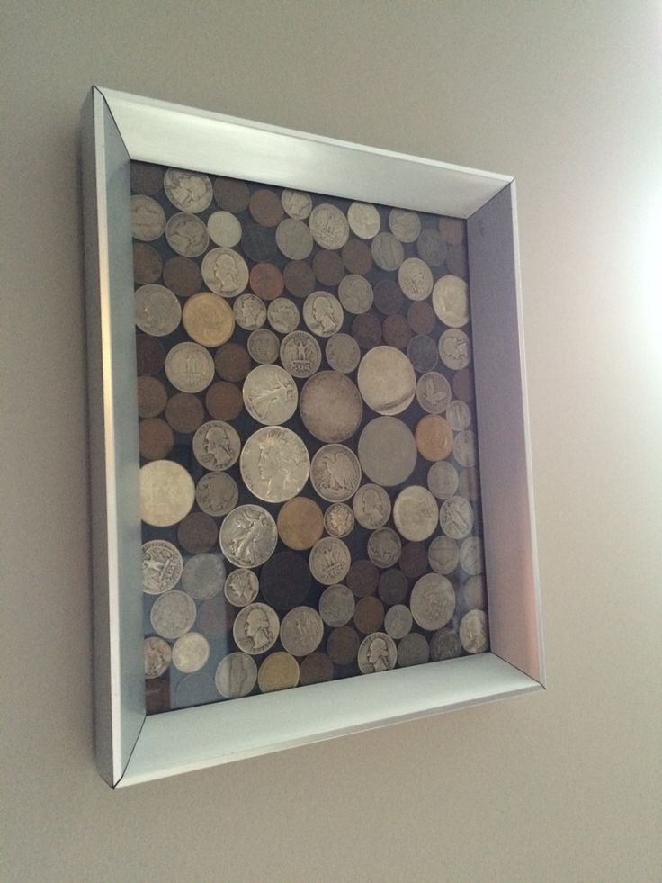 Framed coin collection- great way to display old coins