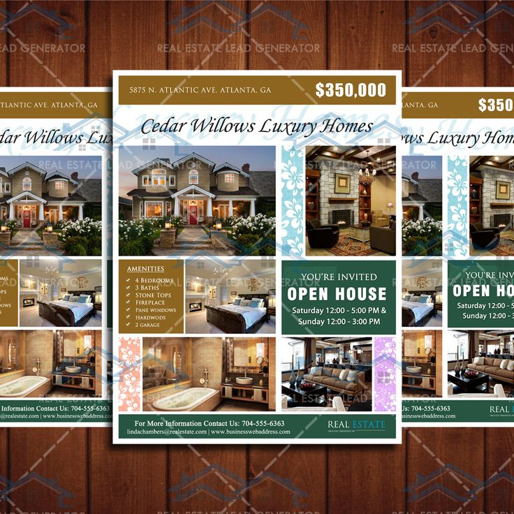 Real Estate Listing Flyer Template 8.5x11 Newly Listed Flyer Template, Property Open House Marketing Template by CreativeEtsyDesigns on Etsy