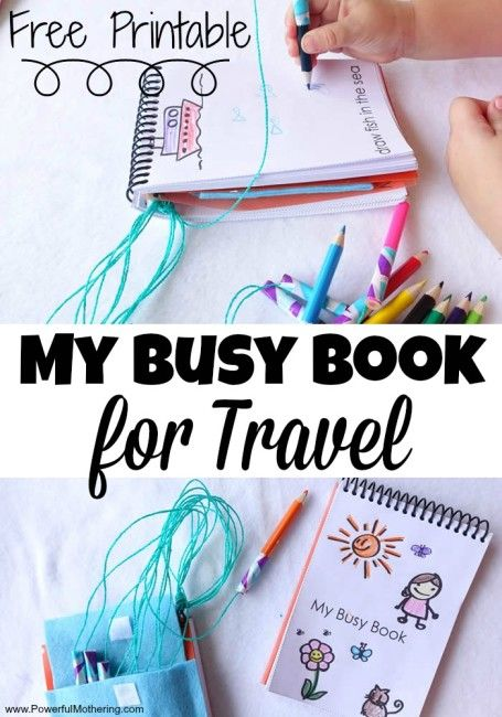 My Busy Book for Travel busy bags