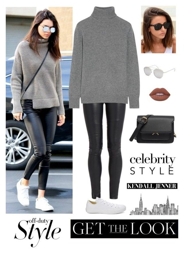 """""""Off-Duty Style: Kendall Jenner"""" by kateindie ❤ liked on Polyvore featuring The Row, Blue Crown, Equipment, Converse and Lime Crime"""